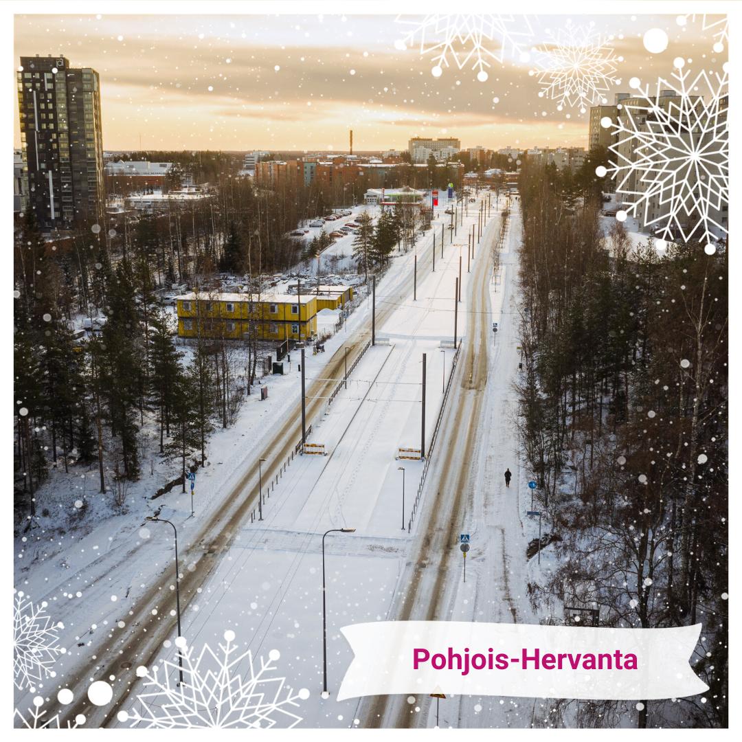 Joulukalenteri Pohjois-Hervannan pysäkki