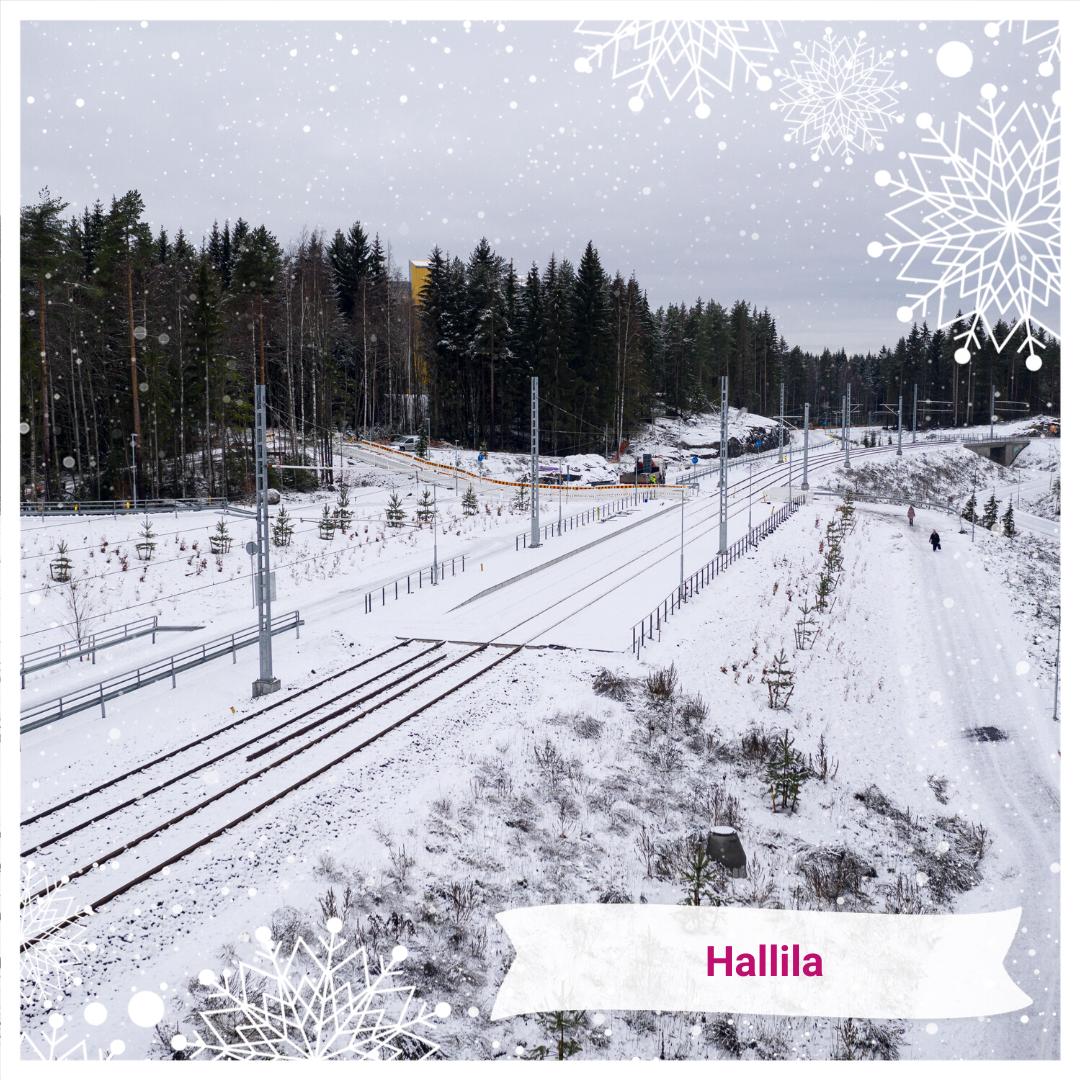 Joulukalenteri Hallilan pysäkki