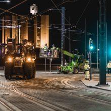 Raitiotien ajojohtimien asennus jatkuu Kalevassa ja keskustan alueella