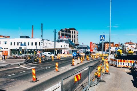 Kuva Hatanpään valtatien liikennejärjestelyistä Suvantokadun liittymässä