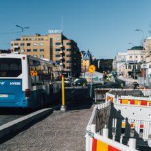 Uusia liikennejärjestelyjä Keskustorilla