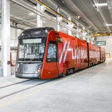 Kuvassa Tampereen Ratikan protovaunu