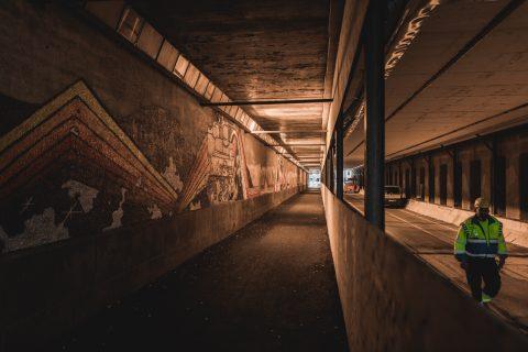 Rautatieaseman alittava tunneli. Kuva Wille Nyyssönen.