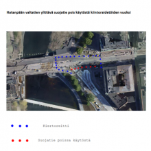 Kulkureittimuutoksia Hämeensillan ja Hämeenkadun jalankulkuun ja pyöräilyyn