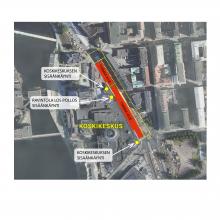 Jalankulkureitteihin muutoksia Hatanpään valtatiellä viikosta 2 alkaen