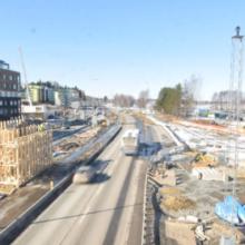 Ylikulkusillan työt etenevät Santalahdessa – viikolla 13 Paasikiventien ja Rantatien alueelle uusia liikennejärjestelyjä