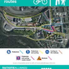 The tramway works on Sepänkatu to start in week 11 – traffic arrangements and route changes in the area