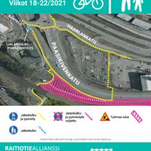 Jalankulku- ja pyöräilyreitteihin muutoksia Paasikivenkadulla