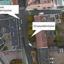 Aleksanterinkadulta poistetaan pysäköintipaikkoja katusuunnitelmien mukaisesti
